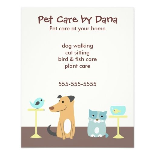 Pet Sitter S Advertising Flyer Zazzle Com Pet Sitters Pet