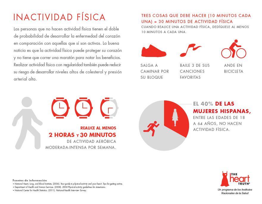 Los que no hacen actividad física tienen el doble de probabilidad de desarrollar la enfermedad del corazón. Infográfico: http://owl.li/gQ0N1