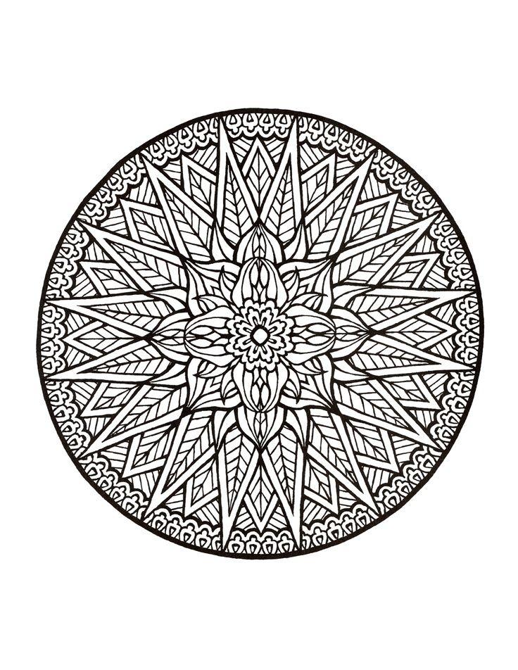 Mystical Mandala Coloring Book   Coloring pages, mandelas ...