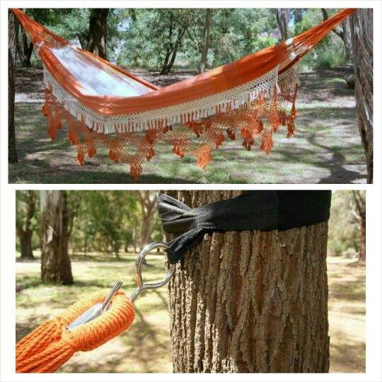 Supremo Double Hammock Orange 149 95 Tree Saver Strap 19