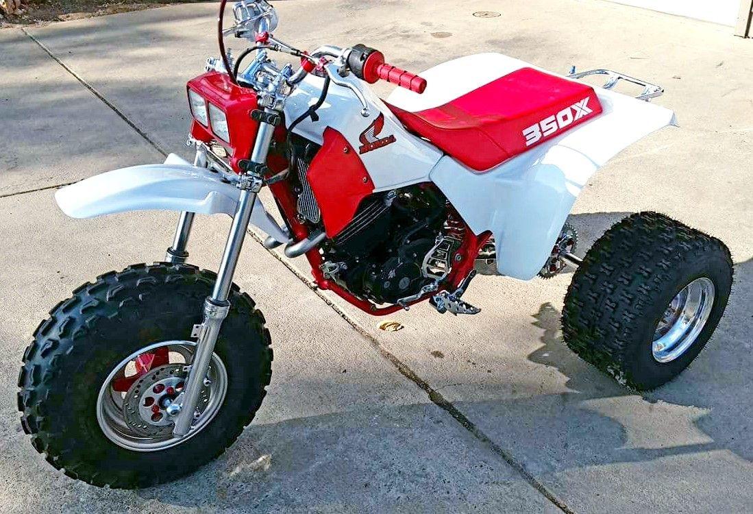 Custom 1985 Honda Atc350x Honda Trike Honda Powersports Dirtbikes