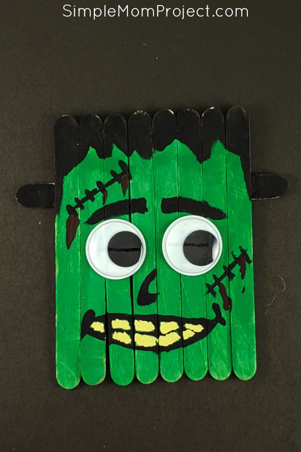 Fun Diy Halloween Frankenstein Popsicle Stick Craft Fun
