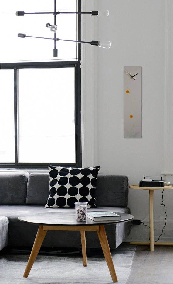 Designer Wall Art Orange and White Mixed Media Unique Wall