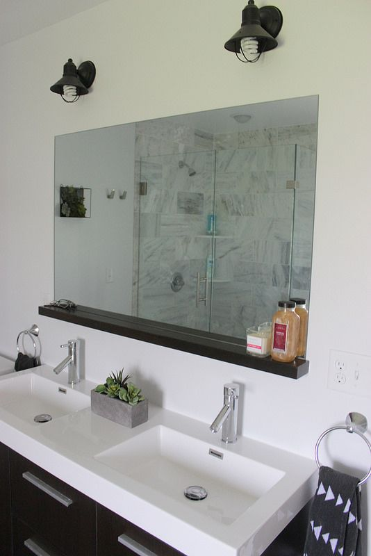 How To Install A Bathroom Mirror Without Brackets Diy