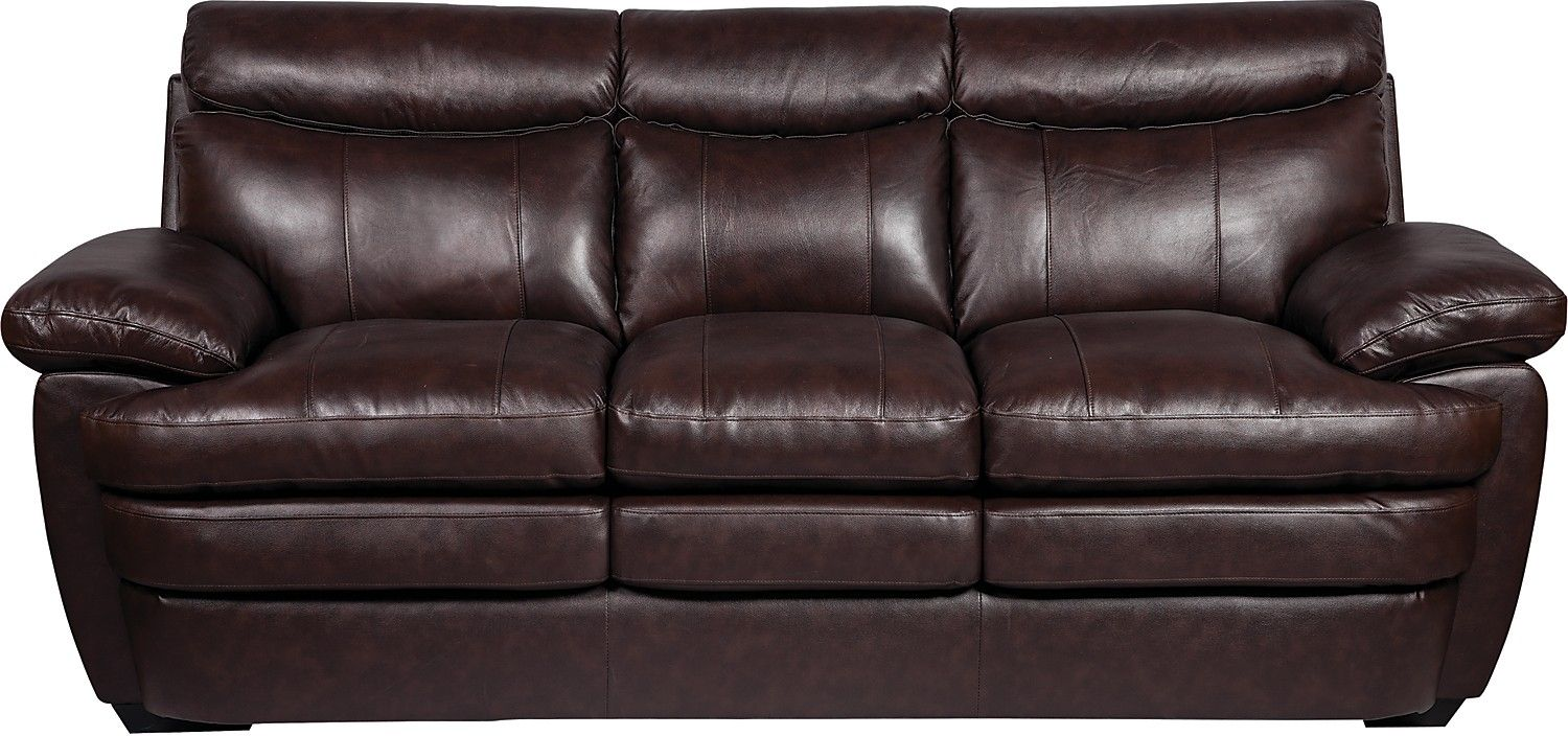 Charmant Enjoy The Plush Feeling Of This Marty Genuine Leather Sofa. Rich, Supple  Seating Offers