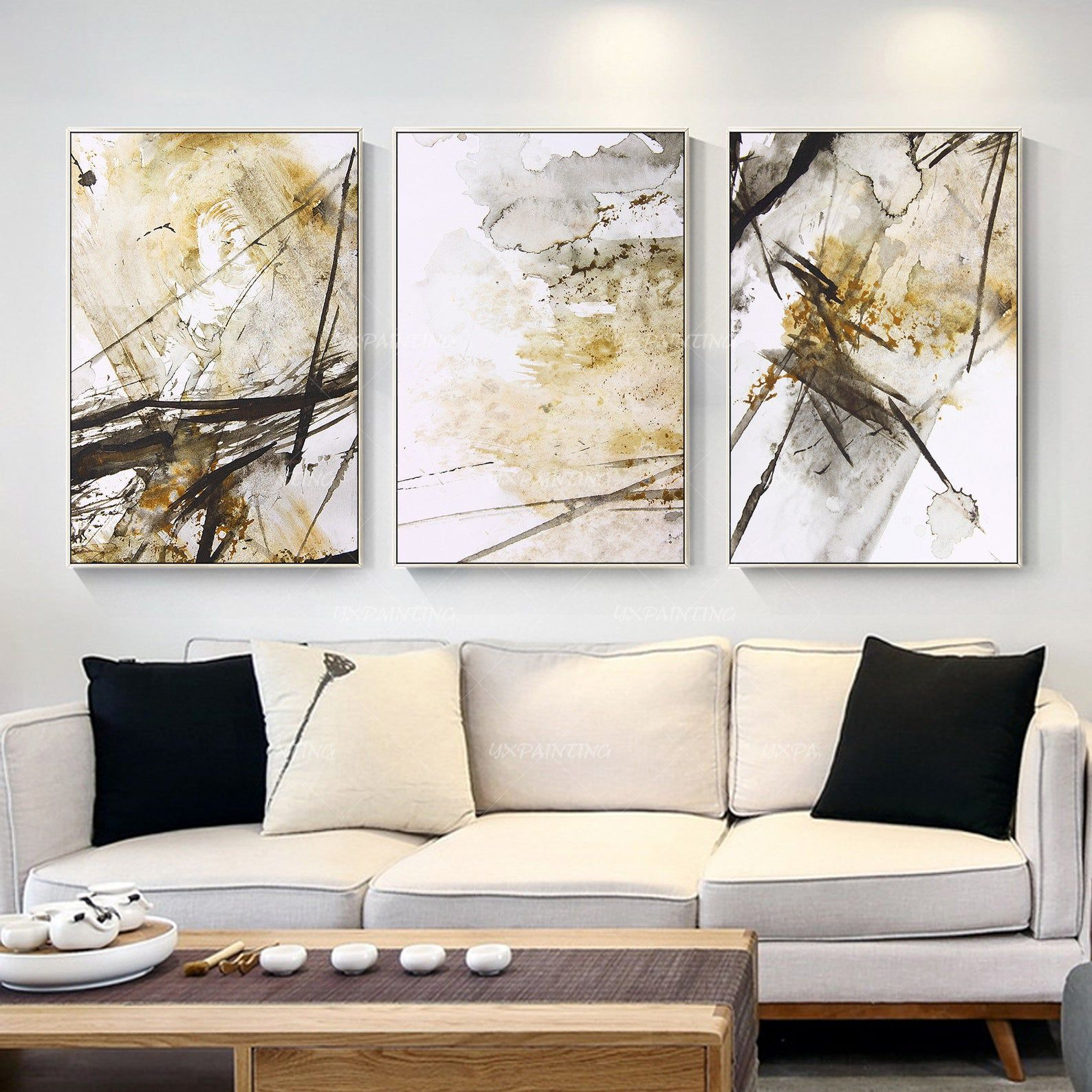 3 Pieces Wall Art Abstract Print Art Painting Set Of 3 Wall Etsy 3 Piece Wall Art Abstract Canvas Painting Painting Frames