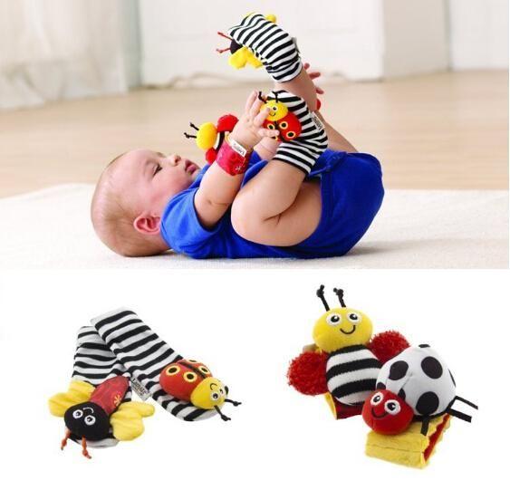 Soft Baby Wrist Strap Ankle Bell Children Supplie Rattle Kids Toys Animals Gift