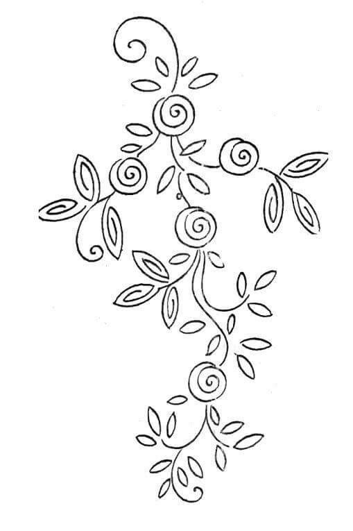 Simple quilling template for beginners | Embroidery | Pinterest ...