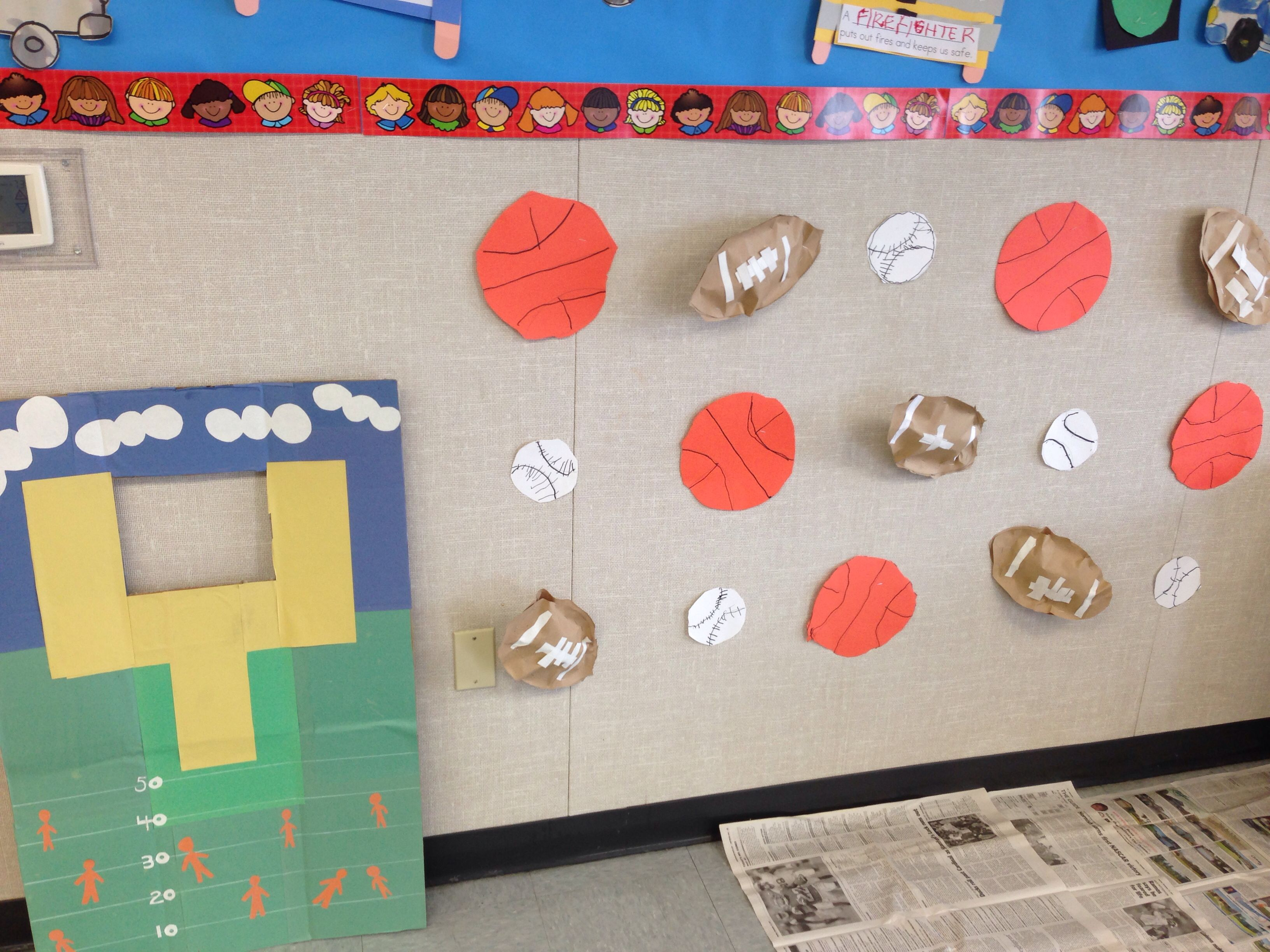 Sports Theme Preschool Classroom