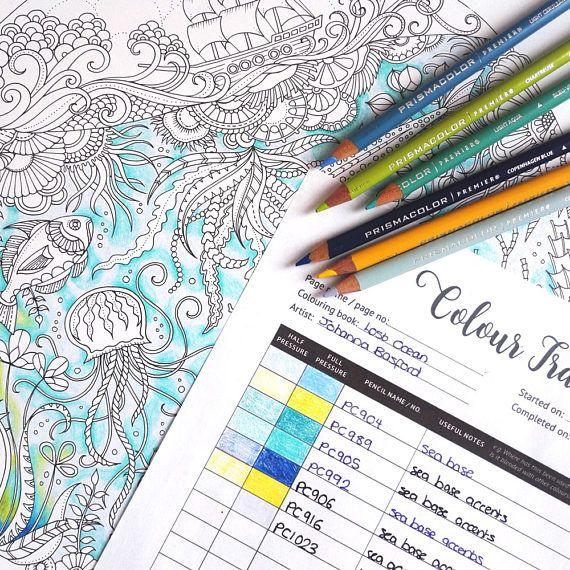 Color Tracker Colour Tracker Coloring Book Tracker Etsy Coloring Books Prismacolor Coloring Pages