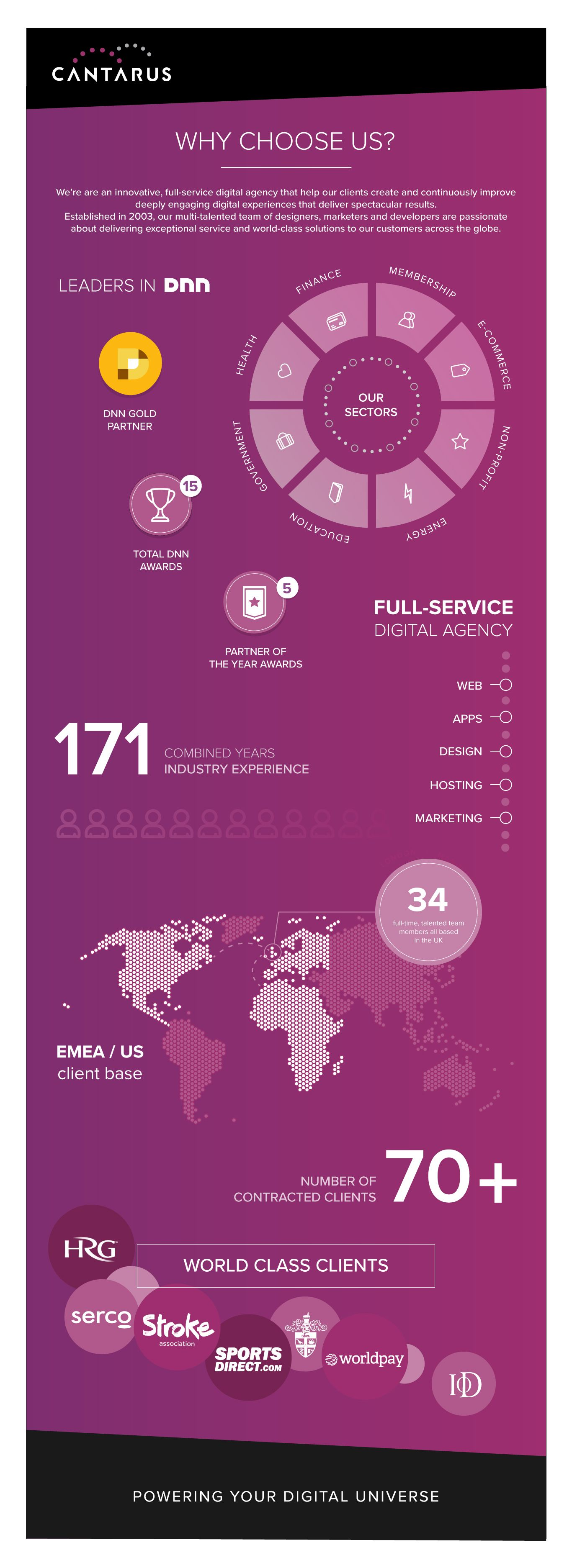 Infographics Ui Design Et Web Design: Our Infographic About Cantarus, Our Growth, Services And