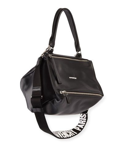 6976d16517c GIVENCHY PANDORA SMALL LOGO-STRAP SATCHEL BAG.  givenchy  bags  canvas   leather  lining  satchel  shoulder bags  hand bags