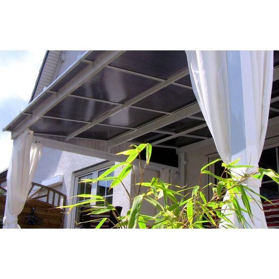 Leco Terrassenüberdachung mit Stegplatten Weiß 360 cm x
