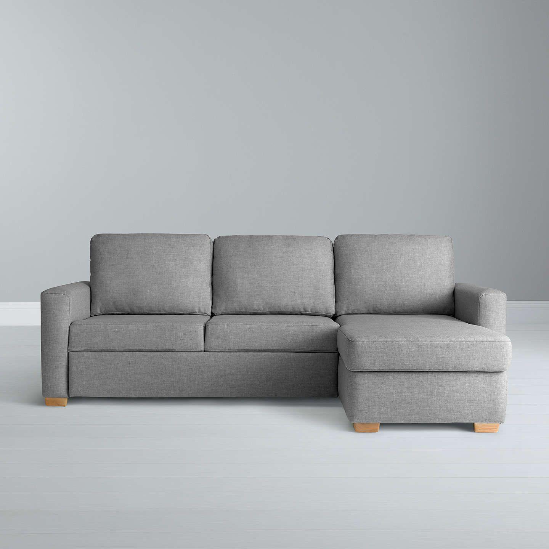 John Lewis Sacha Large Sofa Bed With Foam Mattress Light Leg Erin Grey Online