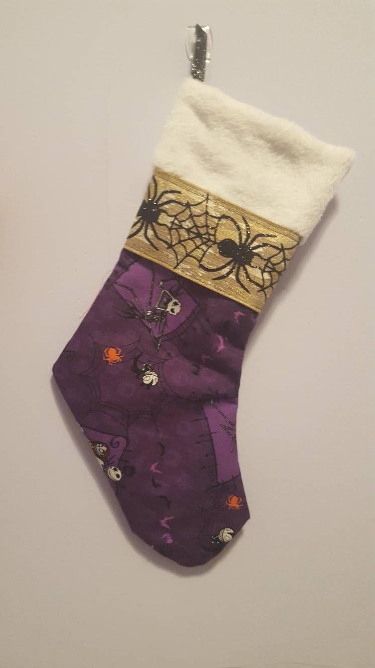 Nightmare before Christmas/ christmas stocking/ stockings/ halloween ...