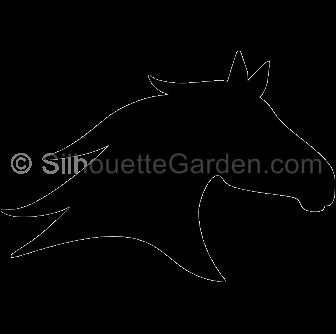 Horse Head Silhouette Horse Silhouette Horse Stencil Silhouette Art