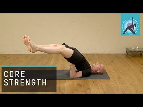 core strengthening side shoulder stand yoga  youtube