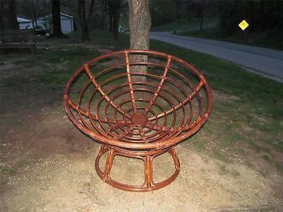 Vintage Papasan Chair Bamboo Wicker