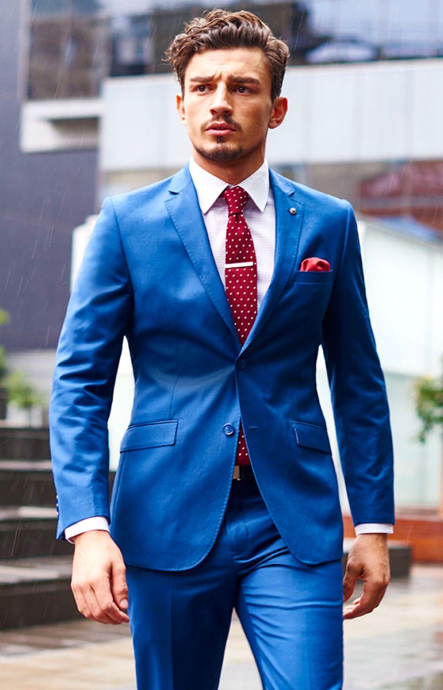 Royal Blue Suit Matching Shirt Shop Clothing Shoes Online In 2021 Blue Suit Men Light Blue Suit Bright Blue Suit