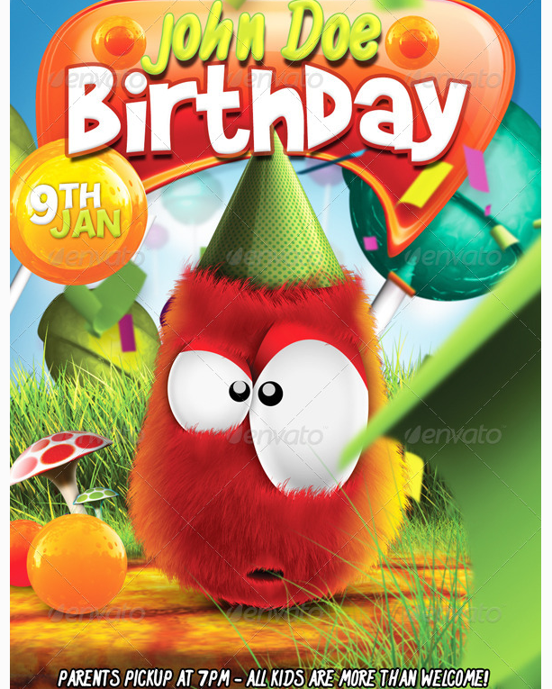 birthday party flyers for kids ecza productoseb co