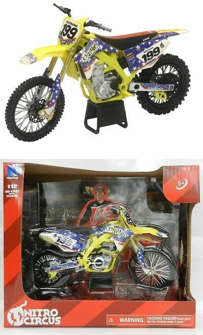 Motorcycles and ATVs 180276 Newray 112 Suzuki Travis Pastrana Nitro Circus Supercross Dirt Bike Nib  BUY IT NOW ONLY 1599 on