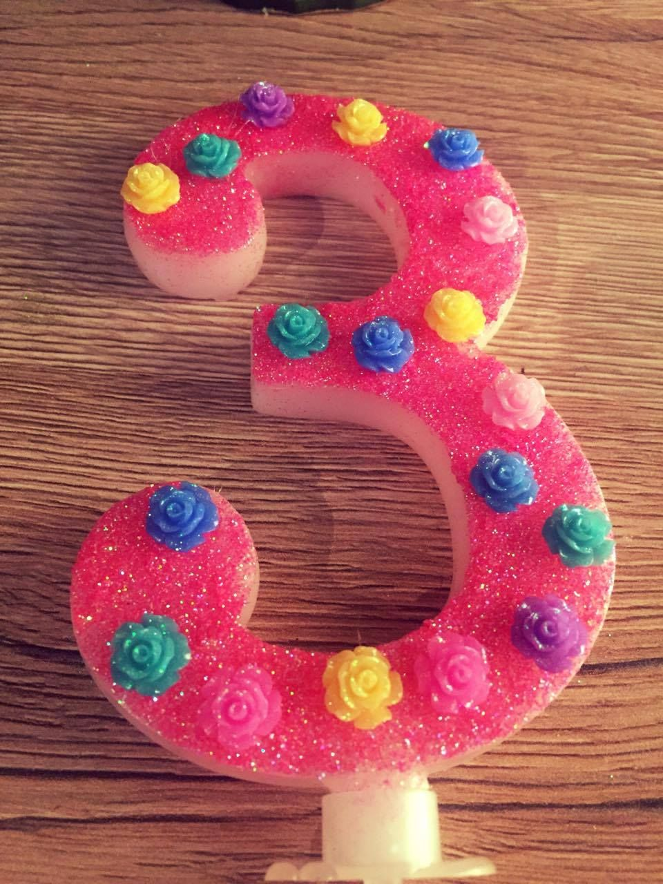 Kids Birthday Cake Candle Party Decoration Topper Large Girls