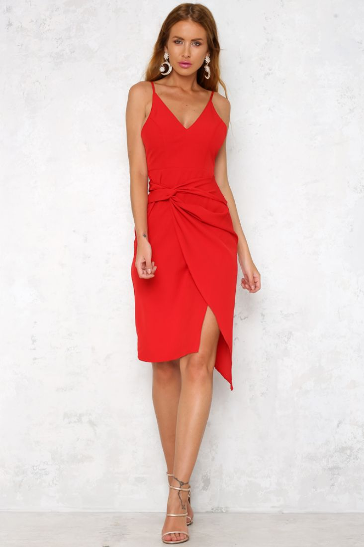 66c9a744e19 The Saturdays Midi Dress has an elegant v-neckline and a round scooped back  supported on thin