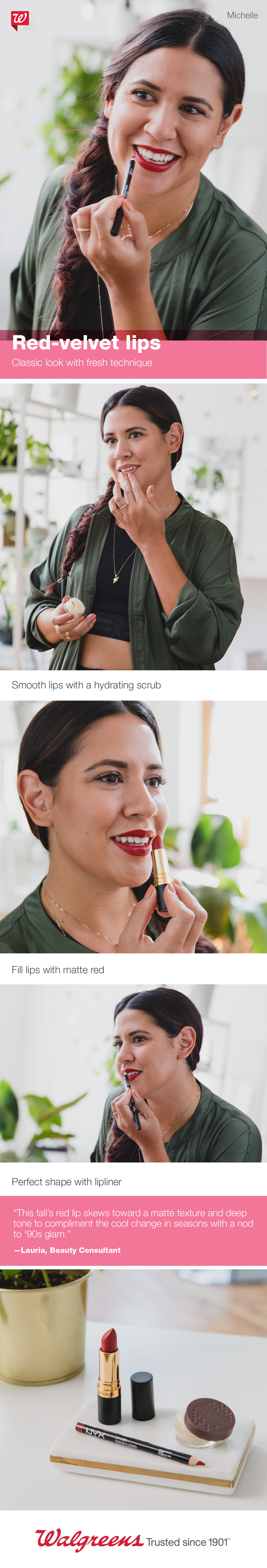 Own the look Perfect your fall pout in perfectly lined