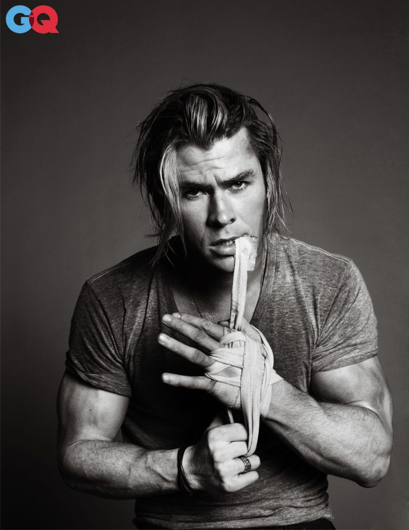 Chris Hemsworth.   What I'm thinking of is so completely inappropriate that I won't comment....