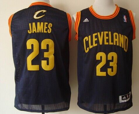 the best attitude 95796 ddb17 Cleveland Cavaliers #23 LeBron James Navy Blue With Gold ...