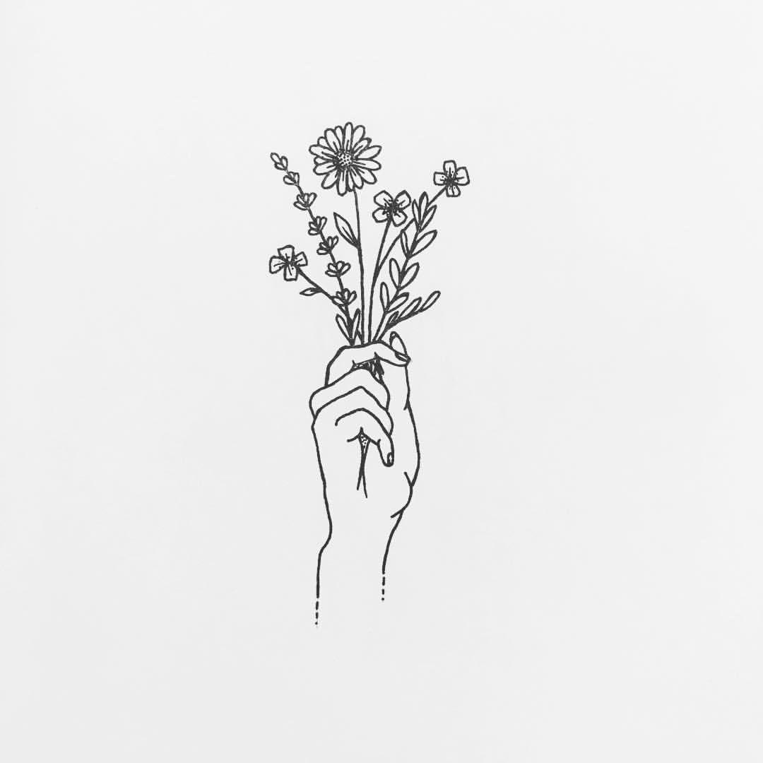Blumenstrauß Kritzeleien Illustration Tattoo Ideen Und Tattoo