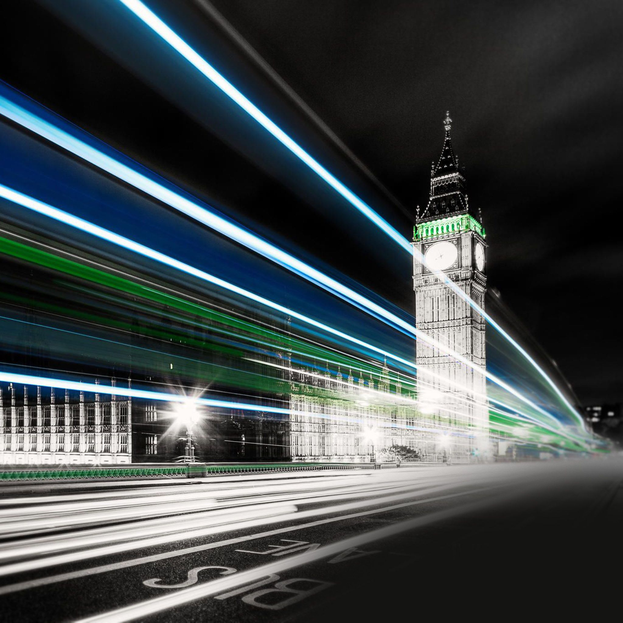 Big Ben Night Lights iPad Wallpaper HD Ipad air
