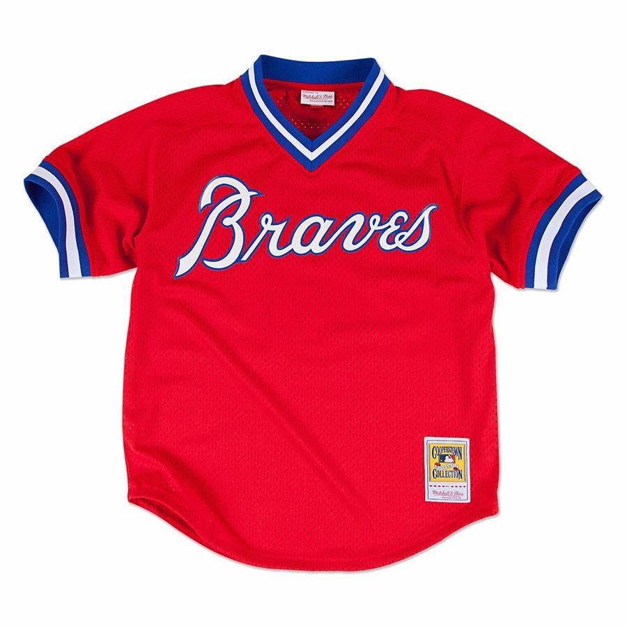 Mlb Mitchell Ness Authentic Throwback Batting Practice Jersey Collection Men S Ebay Atlanta Braves Shirt Atlanta Braves Braves
