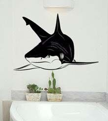 bedroom shark wall mural decal | Decal Wall Stickers by Rooms