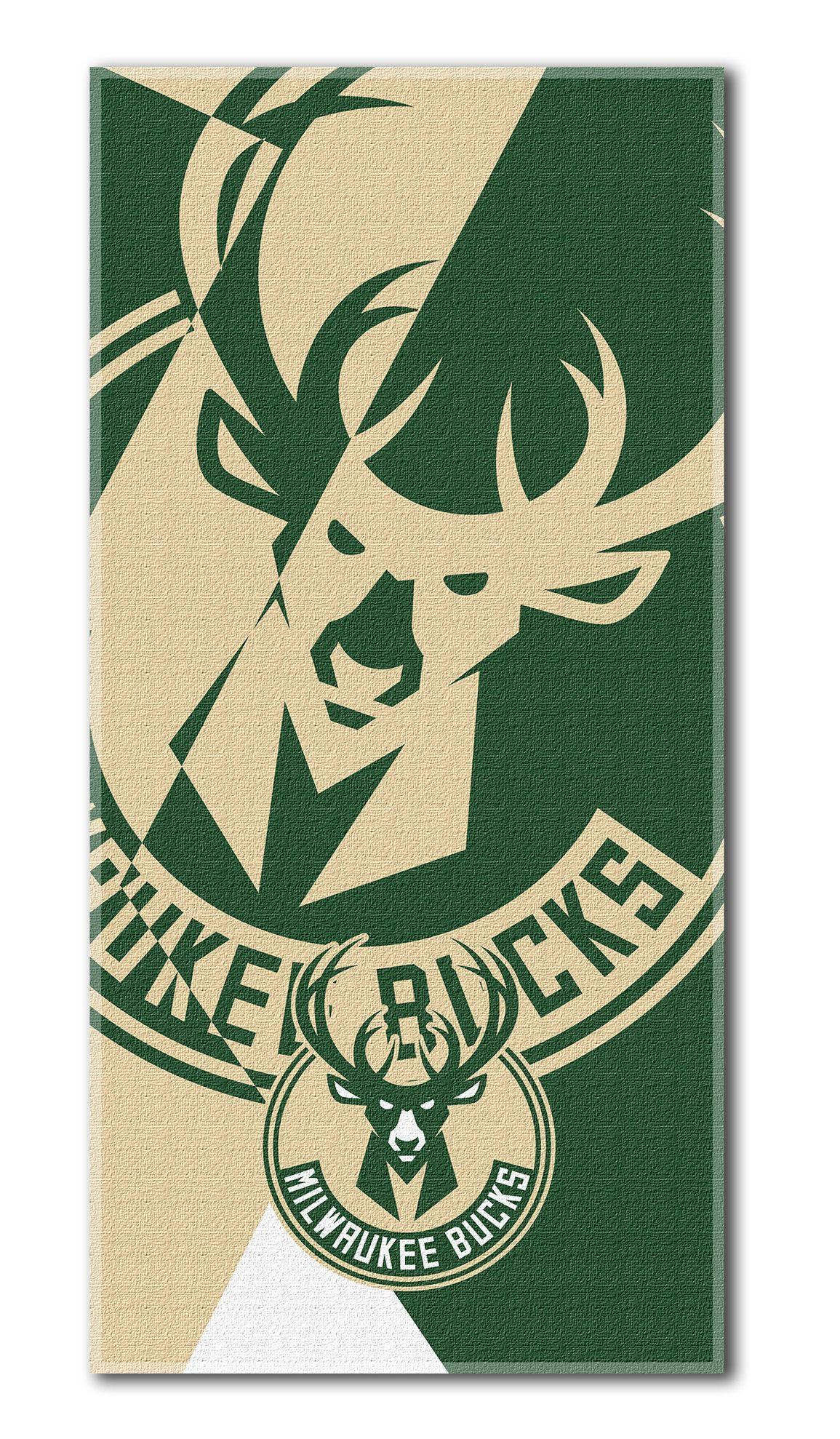 Nba Bucks Puzzle Beach Towel Milwaukee Bucks National Basketball League Milwaukee