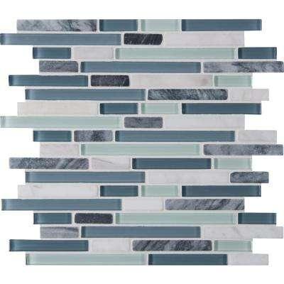 mosaic tiles blue tile backsplash