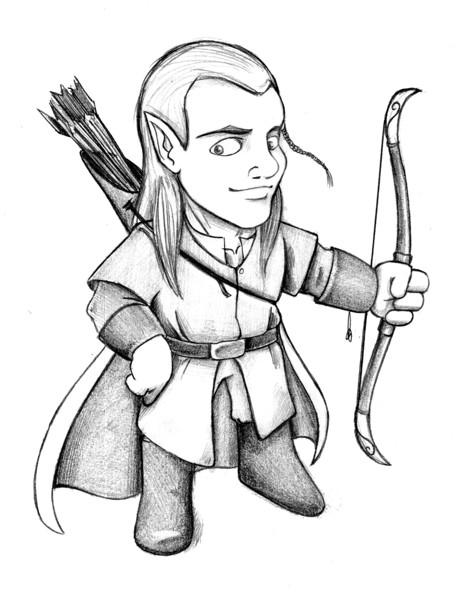 Legolas - Boceto / Skecth El Señor de los Anillos - La Comunidad del ...