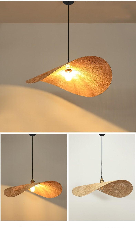 Arturest Bamboo Suspension Luminaire Mid Century Pendant Etsy In 2020 Mid Century Pendant Wicker Pendant Light Pendant Lamp Shade