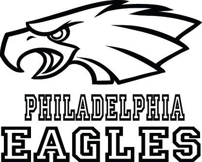Philadelphia Eagles Football Logo Name Custom By Vinylgrafix