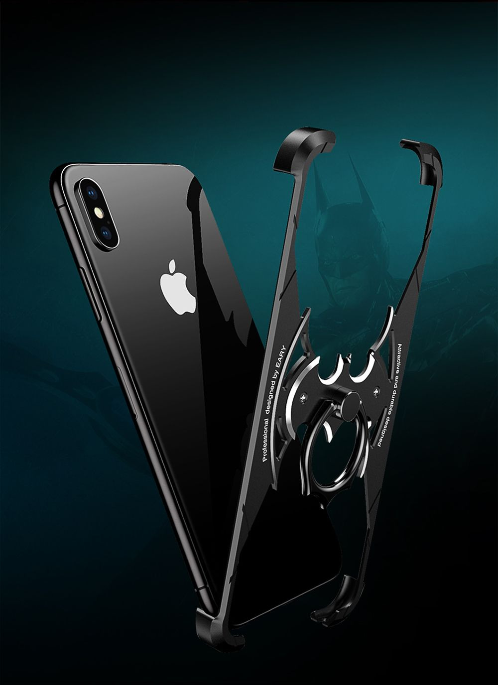 lowest price c3589 4fb4b OATSBASF luxury X Shape Metal Case for iPhone XS Max Case ...