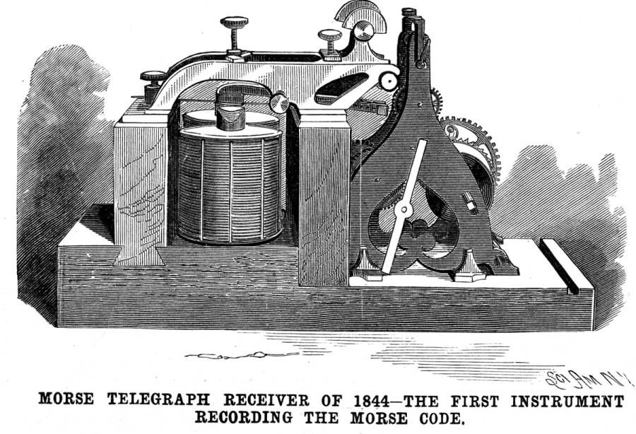 Image result for samuel morse opened the first telegraph line
