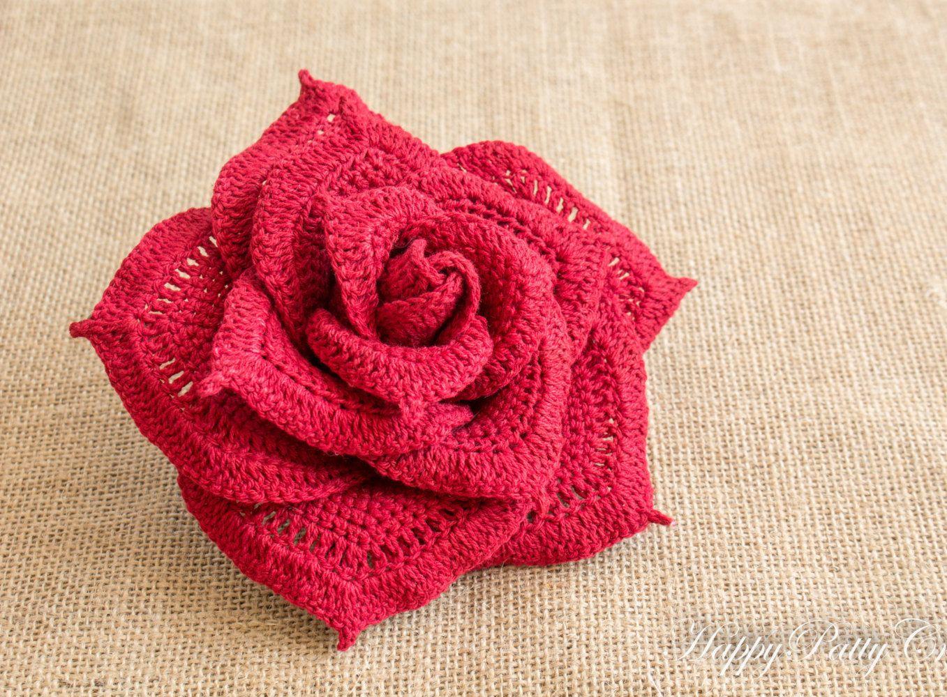 Large crochet rose flower centerpiece crochet flower bouquet large crochet flower izmirmasajfo