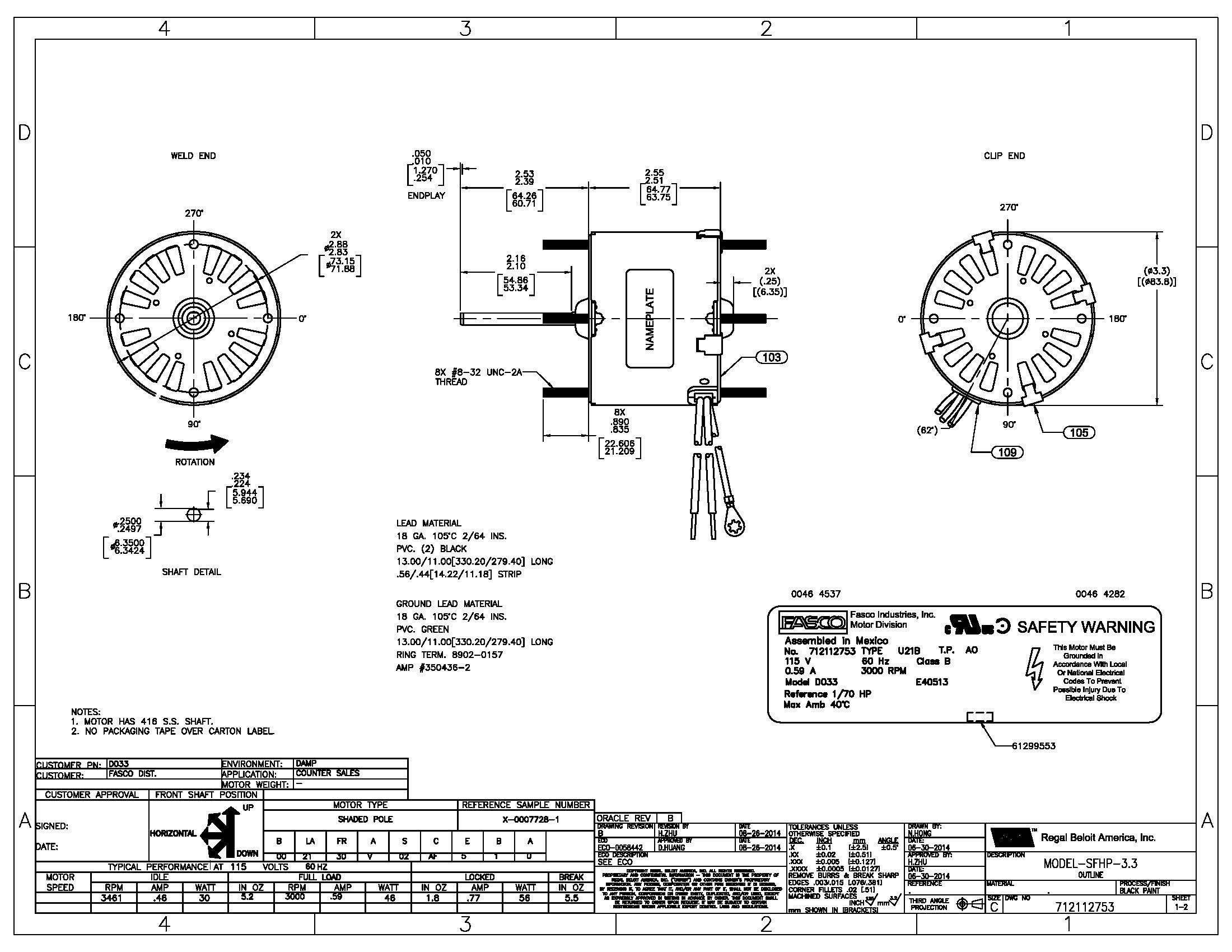 Fasco Motor Wiring Diagram In 2020 Diagram Wire House Wiring