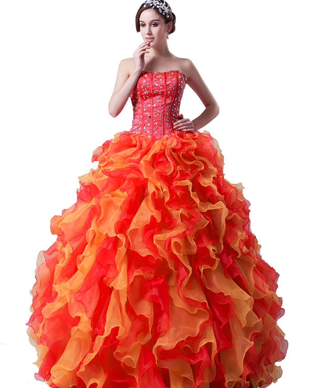 Cutietell womenus sweetheart formal quinceanera dress prom gown