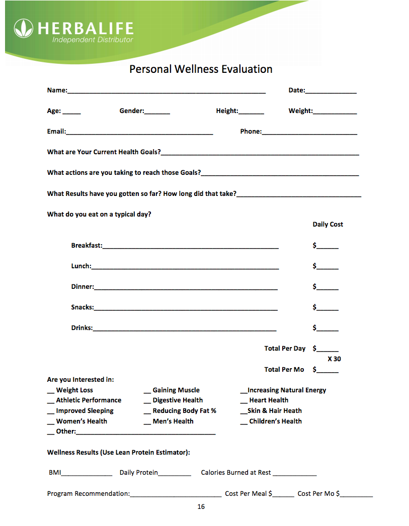 Herbalife-Wellness-Evaluation. Ask yourself these questions then contact me  at [emailprotected] / www.goherbalife.com/staciannkidd