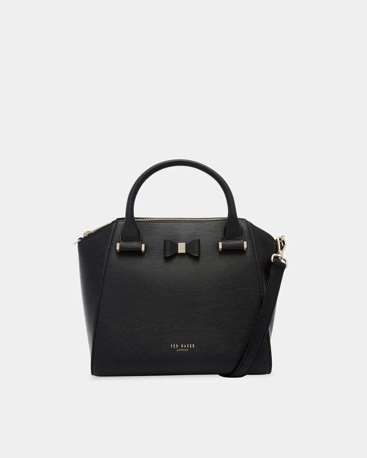 fafcc0163edb Ted Baker CALA Bow detail small leather tote bag