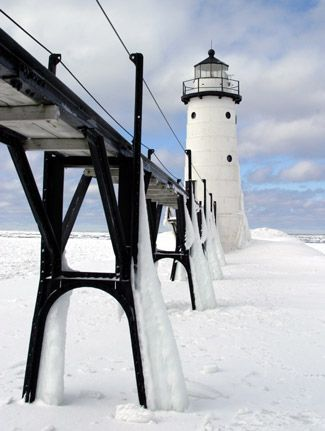 Manistee North Pierhead Lighthouse, Michigan