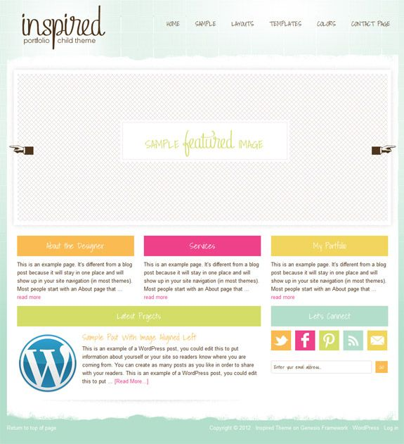 Inspired-Premium-WordPress-Child-Theme-StudioPress-Genesis-Framework ...