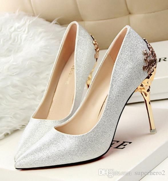 Womens high heeled Suede Shoes pumps carved metal heel