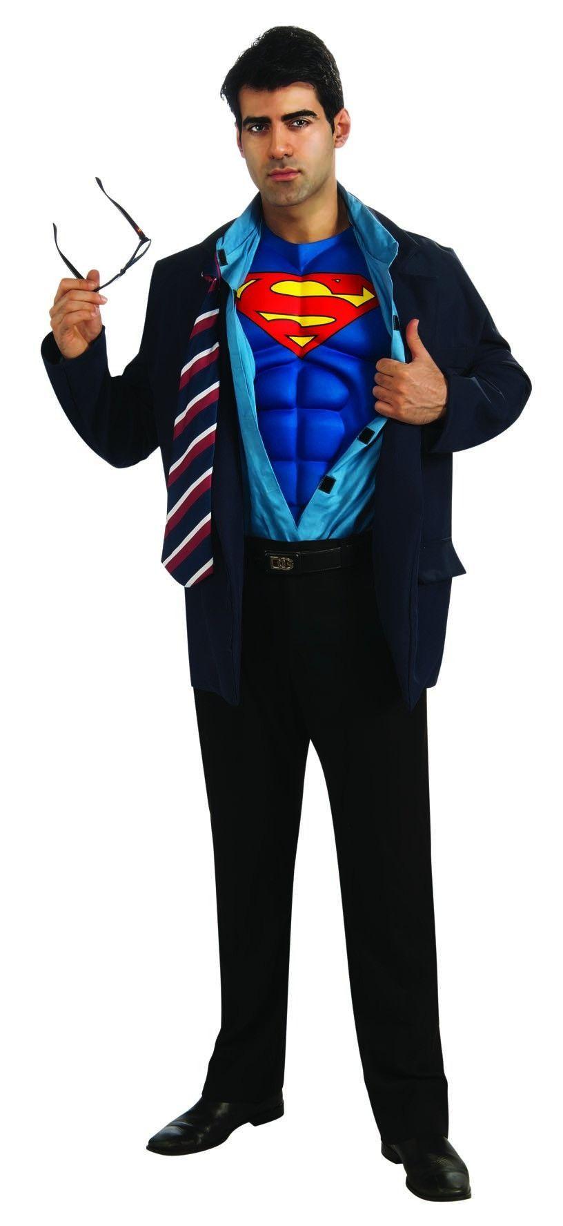 Superman / Clark Kent Muscle Chest Costume Jacket Adult  sc 1 st  Pinterest & Superman / Clark Kent Muscle Chest Costume Jacket Adult | Clark kent ...